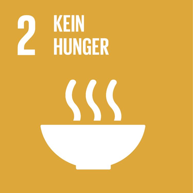 Symbol: SDG Ziel 2, Kein Hunger