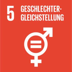 Symbol: SDG Ziel 5- Geschlechter Geleichstellung