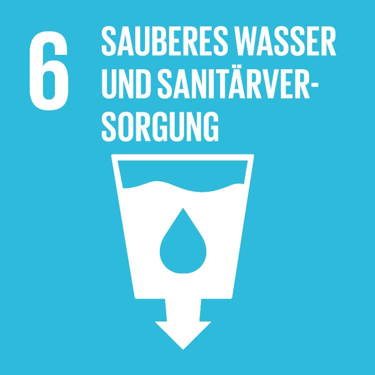 Symbol: SDG Ziel 6- Sauberes Wasser