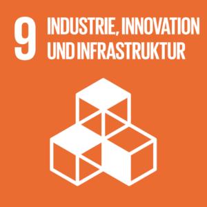 Symbol: SDG Ziel 9 - Industrie, Innovation und Infrastruktur