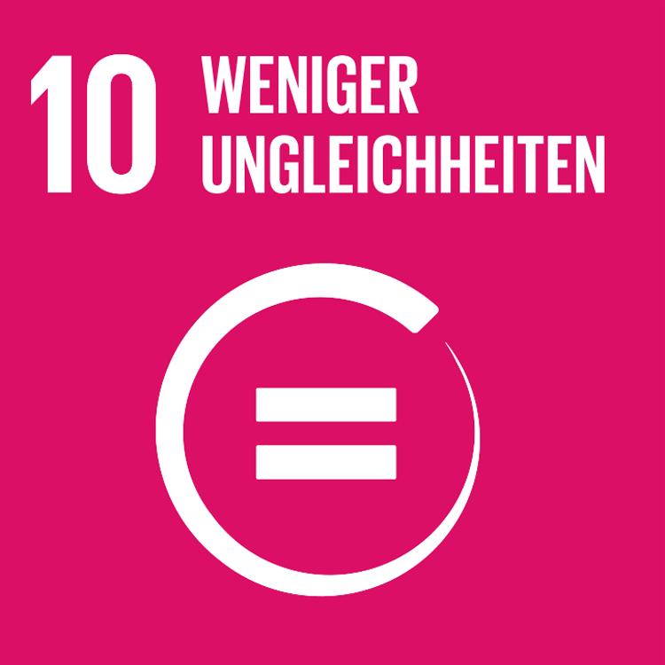 Symbol: SDG Ziel 10- Weniger Ungleichheiten