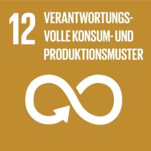 Symbol: SDG Ziel 12 - Nachhaltiger Konsum