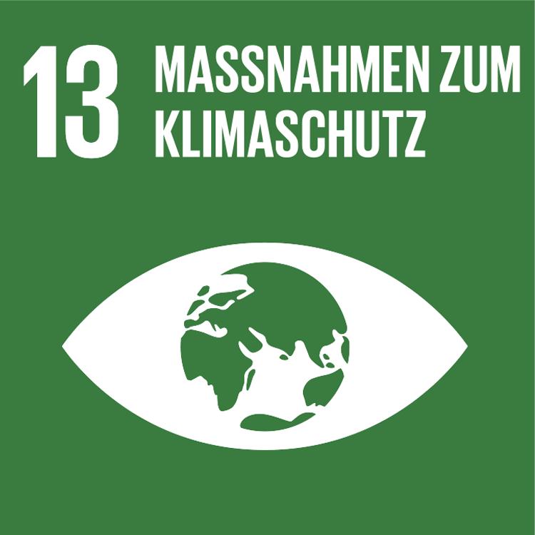 Symbol: SDG Ziel 13 Massnahmen zum Klimaschutz