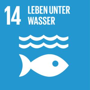 Symbol: SDG Ziel 14- Leben unter Wasser