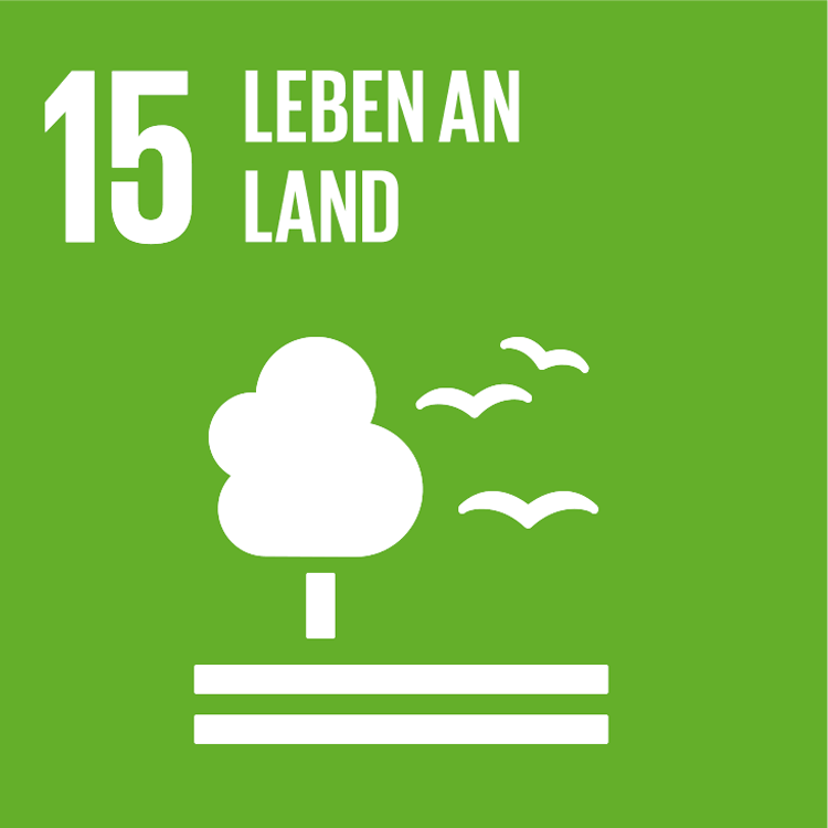Symbol: SDG Ziel15 - Lebven am LAnd