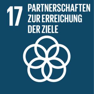 Symbol: SDG Ziel 17 - Partnerschaften zur Erreichung der Ziele